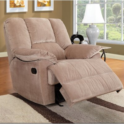 Taggart Manual Glider Recliner Upholstery Color: Beige