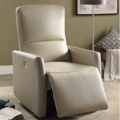 Wolken Power Recliner Upholstery Color: Beige
