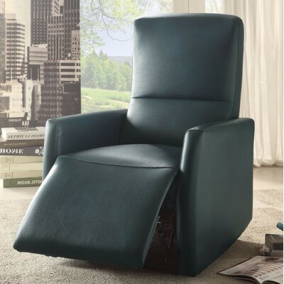 Wolken Power Recliner Upholstery Color: Blue