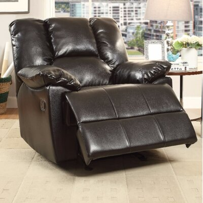 Talamantes Manual Glider Recliner Upholstery Color: Black