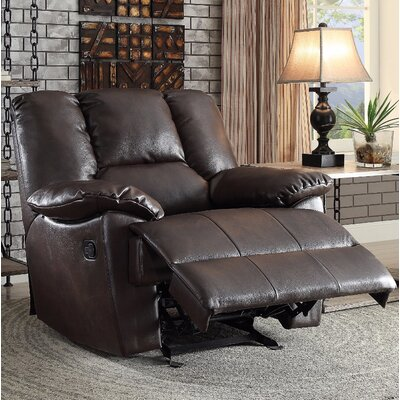 Talamantes Manual Glider Recliner Upholstery Color: Brown