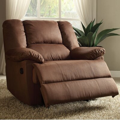 Talamantes Manual Glider Recliner Upholstery Color: Caramel