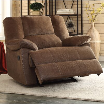 Talamantes Manual Glider Recliner Upholstery Color: Chocolate