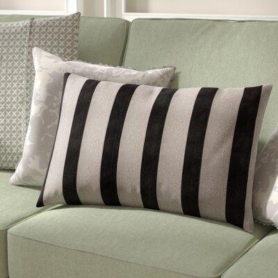 Boutin Stripes Rectangular Lumbar Pillow Color: Black