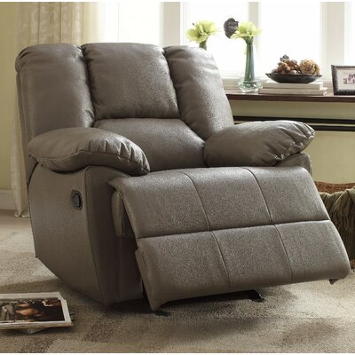 Talamantes Manual Glider Recliner Upholstery Color: Gray