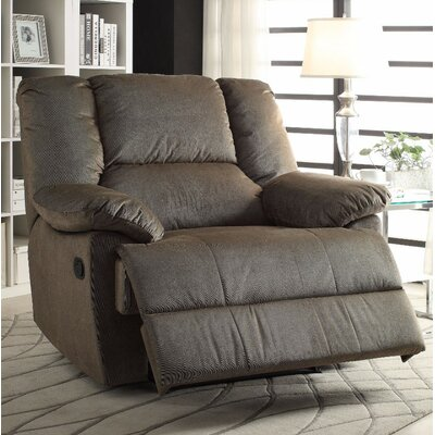 Talamantes Manual Glider Recliner Upholstery Color: Sage Corduroy
