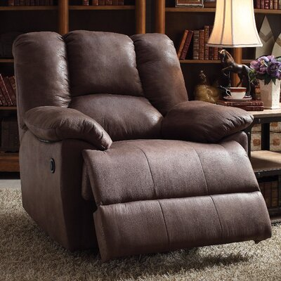 Talamantes Manual Glider Recliner Upholstery Color: Umber