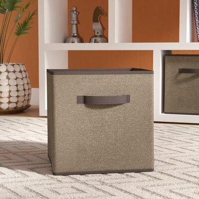 Faux Jute Storage Cube Color: Brown REBR2221 39340280