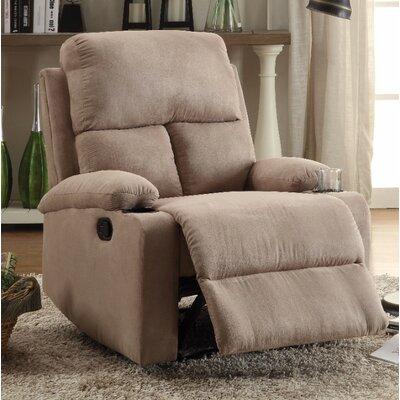 Menon Manual Gilder Recliner Upholstery Color: Beige