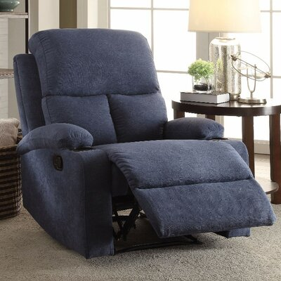 Menon Manual Gilder Recliner Upholstery Color: Blue