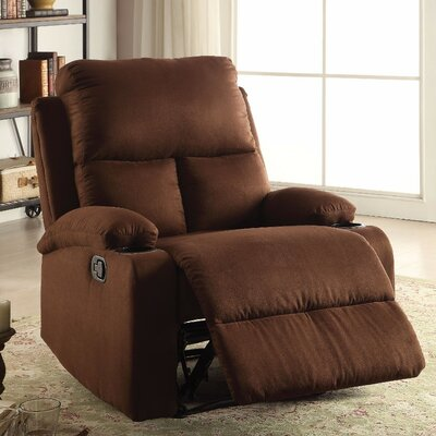 Menon Manual Gilder Recliner Upholstery Color: Brown