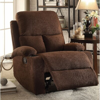 Menon Manual Gilder Recliner Upholstery Color: Chocolate