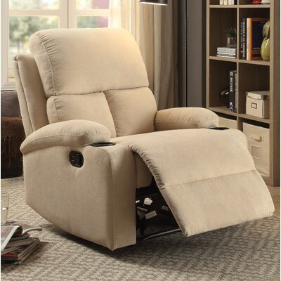 Menon Manual Gilder Recliner Upholstery Color: Cream