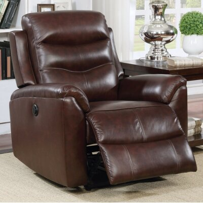 Wolters Power Recliner Upholstery Color: Brown