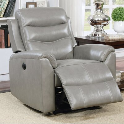 Wolters Power Recliner Upholstery Color: Gray