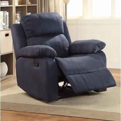 Fort Hamilton Manual Gilder Recliner Upholstery Color: Blue