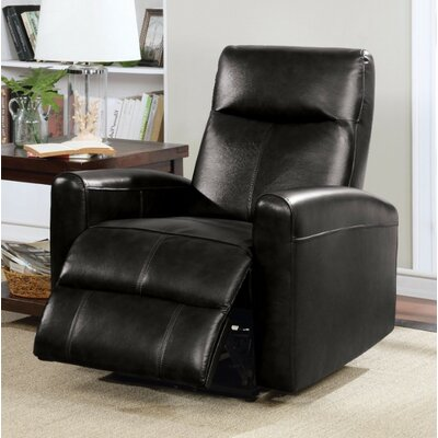 Wolverton Power Recliner Upholstery Color: Black