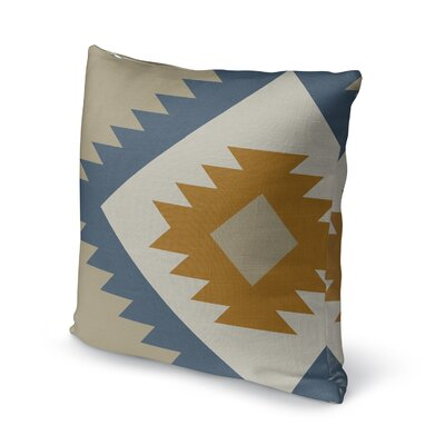 Lewallen Throw Pillow Size: 18 x 18, Color: Orange/Blue/Olive