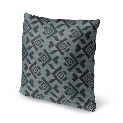Levey Throw Pillow Size: 16 x 16, Color: Blue, Gray