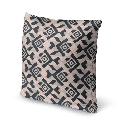 Levey Throw Pillow Size: 24 x 24, Color: Black, Gray, Tan