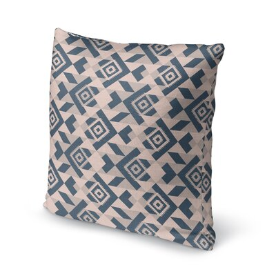 Levey Throw Pillow Size: 24 x 24, Color: Tan, Blue Gray