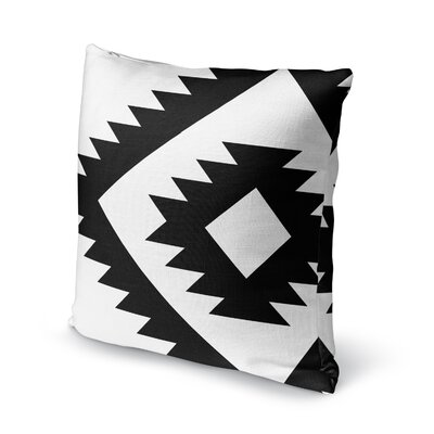 Lewallen Throw Pillow Size: 16 x 16, Color: Black/White
