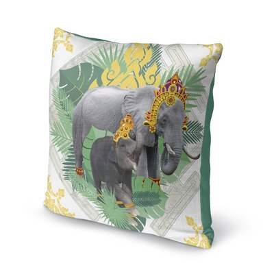 Edney Elephant Throw Pillow Size: 16 x 16