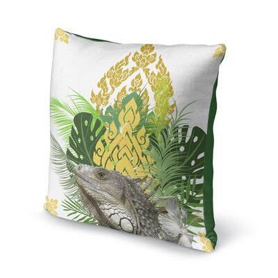 Edson Iguana Throw Pillow Size: 16 x 16