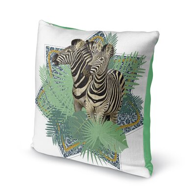 Eduardo Zebra Throw Pillow Size: 16 x 16