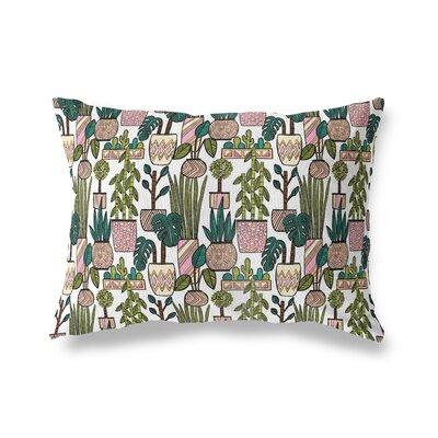 Christen Plant Pattern Throw Pillow Size: 12 x 16