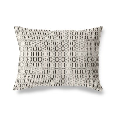 Liang Throw Pillow Color: White/Black, Size: 18 x 24