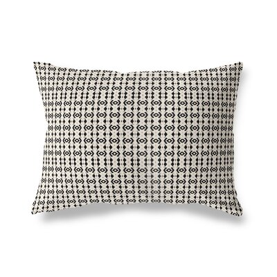 Liao Throw Pillow Color: White/Black, Size: 18 x 24