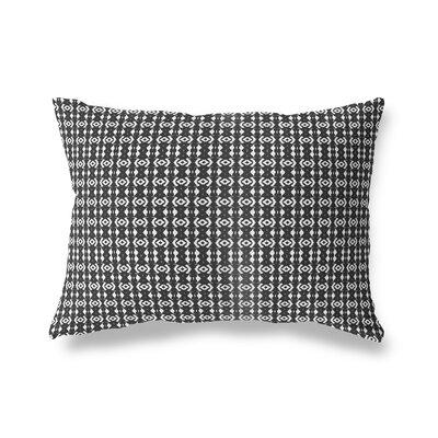 Liao Throw Pillow Color: Black/Tan, Size: 18 x 24