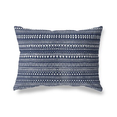 Christenson Throw Pillow Color: Blue/White, Size: 12 x 16