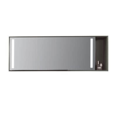 Stack Mirror 54 x 19.7 Surface Mount Medicine Cabinet with LED