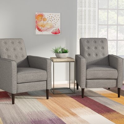 Russo Manual Recliner Color: Gray