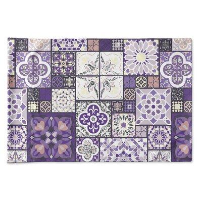 Burroughs Tile Pillow Case Size: 20 H x 30 W x 0.25 D, Color: Purple/Gray/Pink