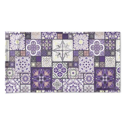Burroughs Tile Pillow Case Size: 20 H x 40 W x 0.25 D, Color: Purple/Gray/Pink