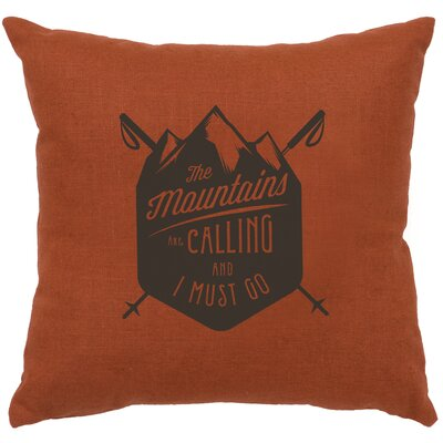 Neale Mtns Are Calling Throw Pillow Color: Paprika