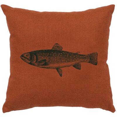 Nagel Trout Throw Pillow Color: Paprika