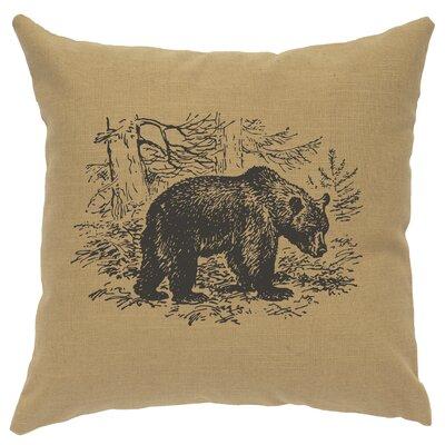 Nailwell Bear Scene Throw Pillow Color: Straw