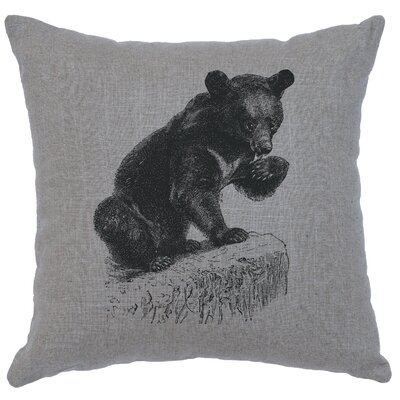 Nailwell Bear Cub Throw Pillow Color: Gray