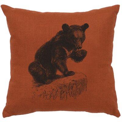 Nailwell Bear Cub Throw Pillow Color: Paprika