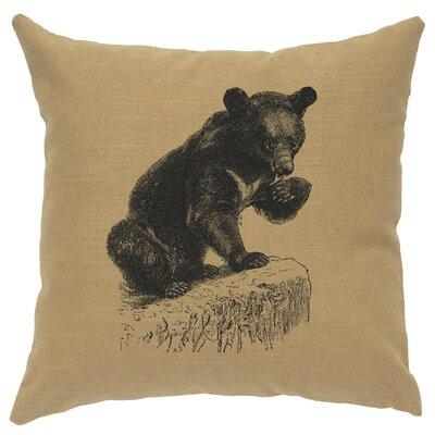 Nailwell Bear Cub Throw Pillow Color: Straw