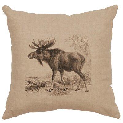 Nakagawa Moose Scene Throw Pillow Color: Natural