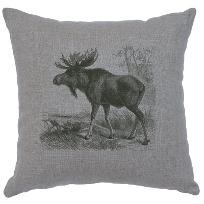 Nakagawa Moose Scene Throw Pillow Color: Gray