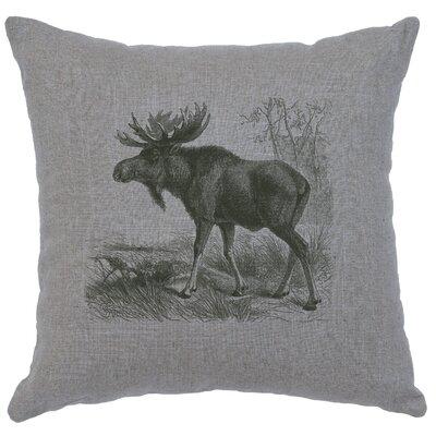 Nakagawa Moose Scene Throw Pillow Color: Gray