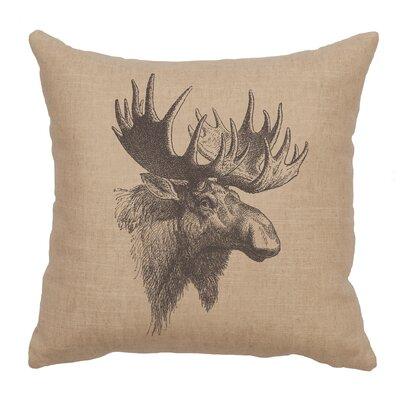Nakagawa Moose Profile Throw Pillow Color: Natural