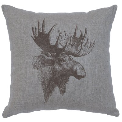 Nakagawa Moose Profile Throw Pillow Color: Gray