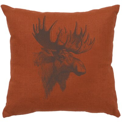 Nakagawa Moose Profile Throw Pillow Color: Paprika